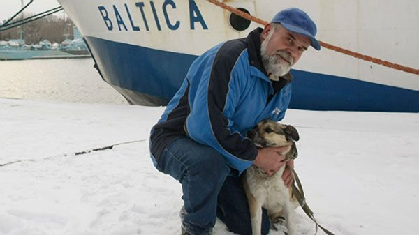 Baltic, the spunky dog who floated at least 75 miles on an ice floe down