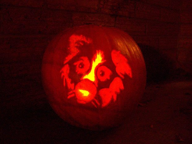 Pumpkins Carved With Dog Stencils From Dog Files Community