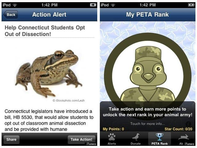Free iPhone PETA App Counters Controversial 'Dog Wars' Game