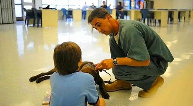 Colorado Prisoner Trains Dog To Help Boy With Autism