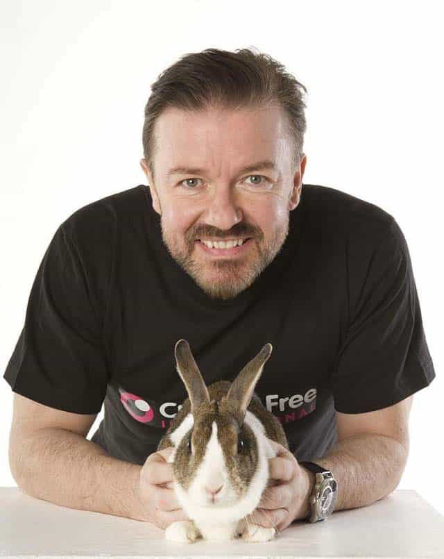 Ricky Gervais Launches Global Campaign To End Cosmetic Tests On Animals