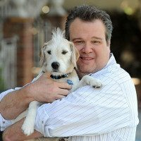 Eric Stonestreet of TV's Modern Family With His Dog, Coleman: Cute Video