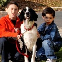 Max with my nephews, Anthony & Christopher. They are all much older now. (How time flies!)