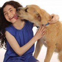 "Lilla Crawford, who will play Annie, and ""Sunny"" who will play Sandy, in the new Broadway production of Annie."