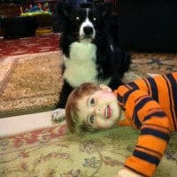 Peyton Myrick with his best buddy, Ashepoo!