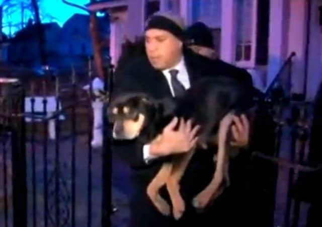 Mayor Booker saves dog1