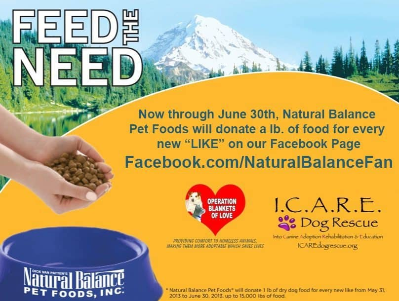 "Help Natural Balance ""Feed The Need""!"