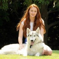 "Game of Thrones Star Adopts ""Direwolf"" As Real-Life Pet"