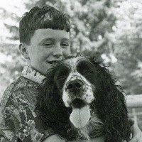 Kenn Bell with his first dog, Benny, 1977